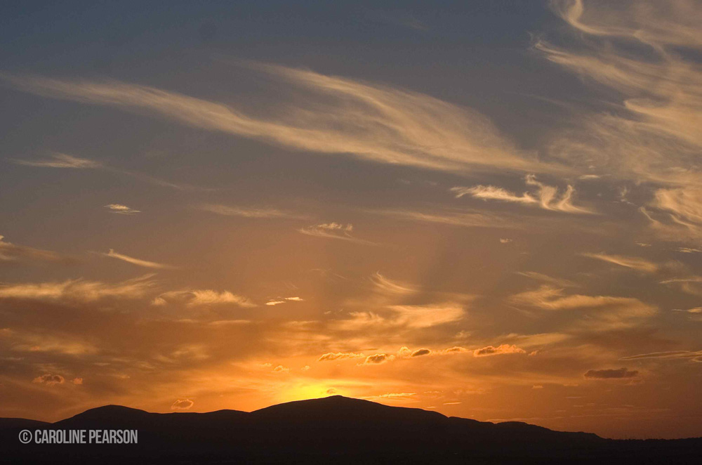 Sun sets on the Heid
